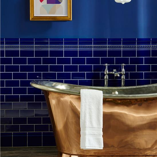 Royal Blue Half Tile