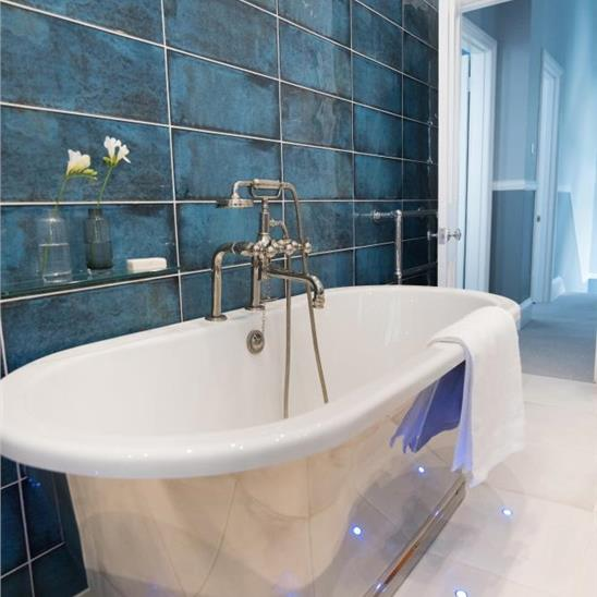 Montblanc Blue Ceramic Tile - Blue-ceramic-bathroom-tile