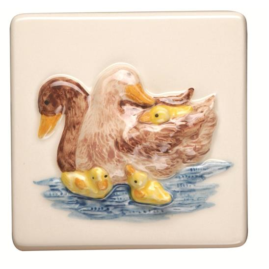 Ducks Relief Moulded Hand Painted On Clematis