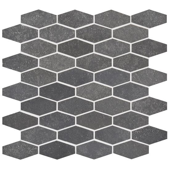 Crypto Large Hexagon Honed Marble Mosaic