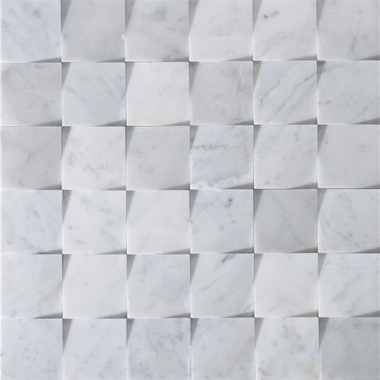 Origin Grey Honed Marble Mosaic