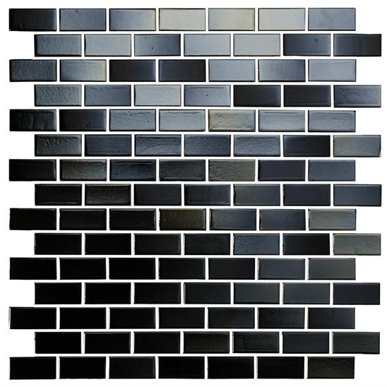 "Jungfrau Iridescent Glass Brickbond  Mosaic 20 x 42mm 13/16"" x 1 9/16"""