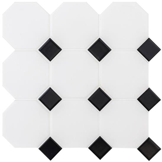 Classic Octagon and Dot Floor Mosaic