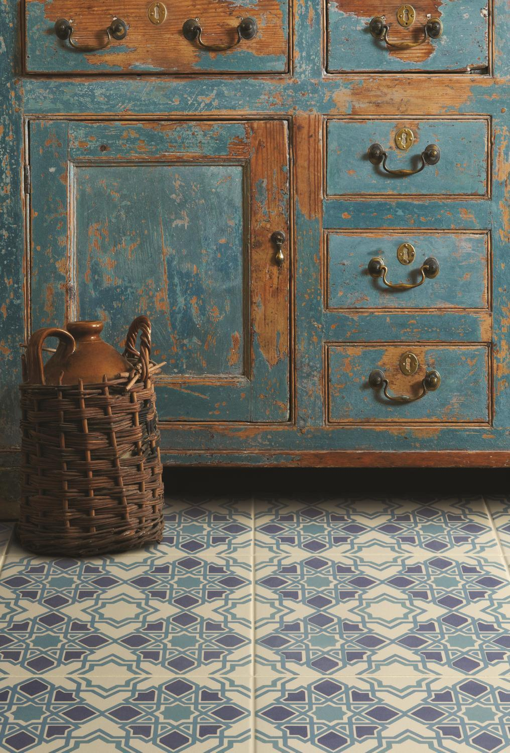 Flavours of morocco be inspired cool blue floor tiles dailygadgetfo Gallery