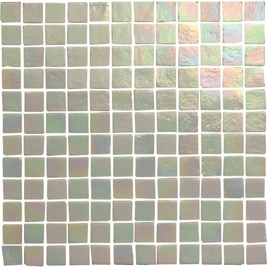 Everest Lustre Glass Iridescent Crackle Mosaic 24mm 1""