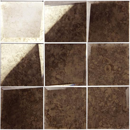 100mm Facet Mosaic Antique Mirror Copper