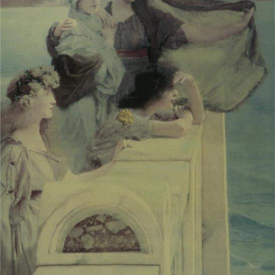 Alma-Tadema: At Aphrodite's Cradle Masterpiece Tile
