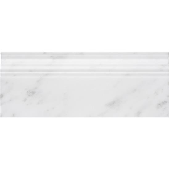 Viano White Polished Marble Skirting