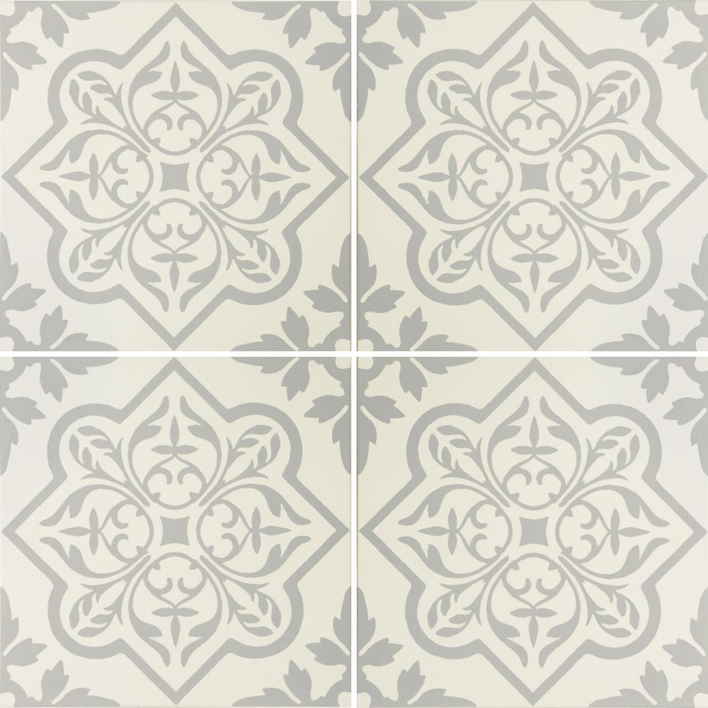 Pentillie Light Grey on Chalk Tile