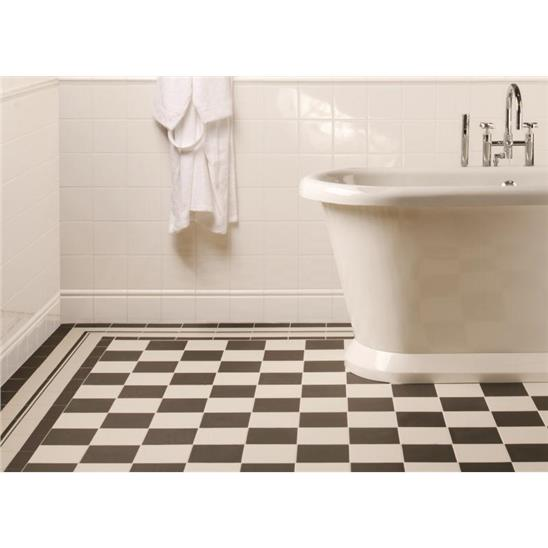Square Dover White Ceramic Tile