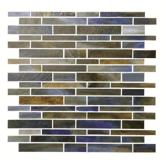Dappled Sky Glass Brickbond Mosaic