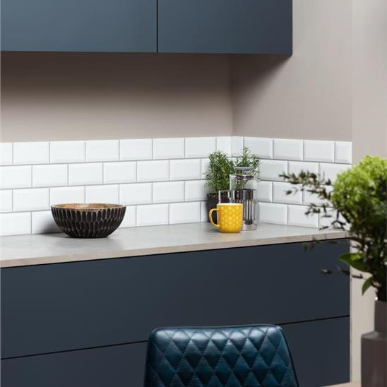 Brilliant White Metro Bevelled Tile