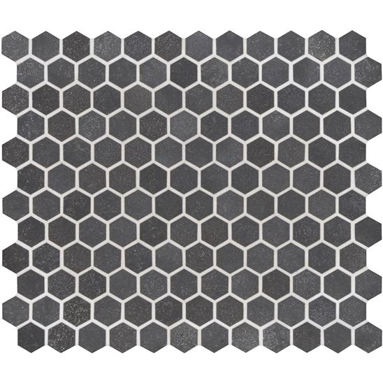 Crypto Small Hexagon Honed Marble Mosaic
