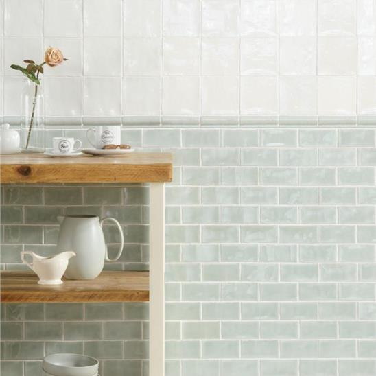 mint half ceramic tile