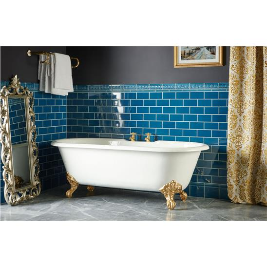 Baroque Blue Half Tile