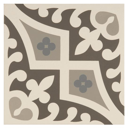 Romanesque Light Blue, Light Grey and Dark Grey on Dover White