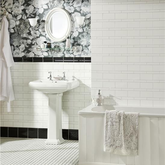 brilliant white half tile
