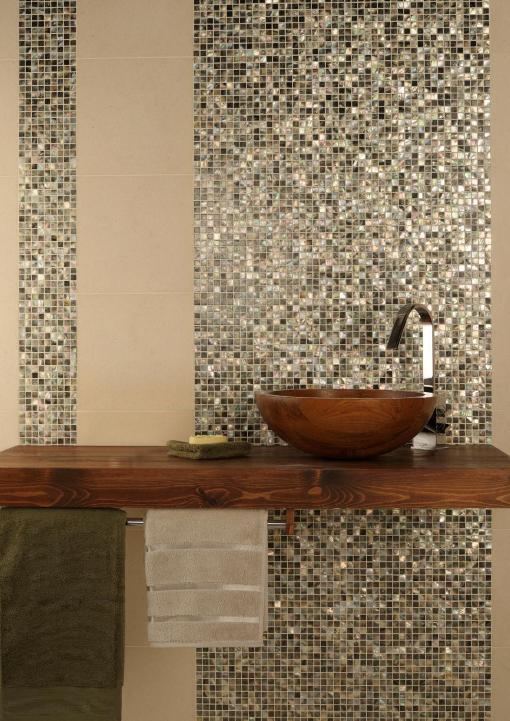 Mother Of Pearl. Shell Mosaic