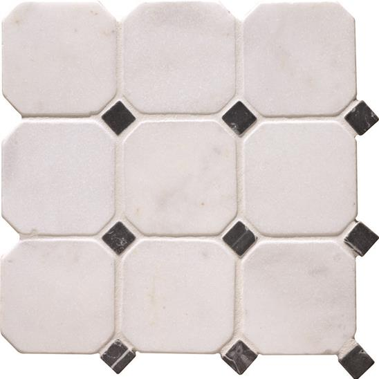 white octagon 10 tile. Black Bedroom Furniture Sets. Home Design Ideas