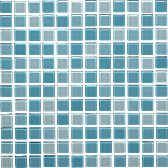 Pacific Mixed Glass Mosaic 24mm 1""