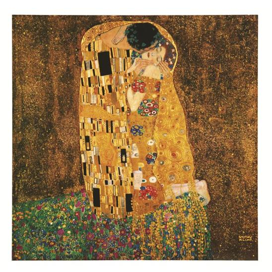 Gustav Klimt: The Kiss Masterpiece Tile