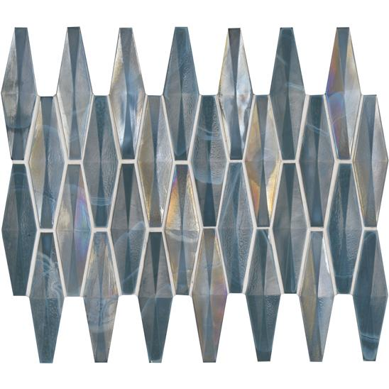 Solitaire Glass Iridescent Mosaic