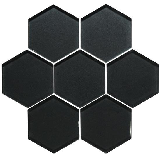 Hera Metallic Hexagon Mosaics