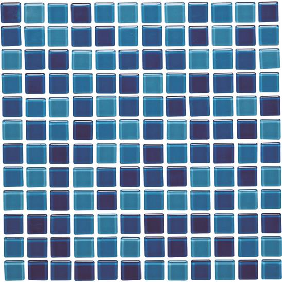 Atlantic Mixed Glass Mosaic 24mm 1""