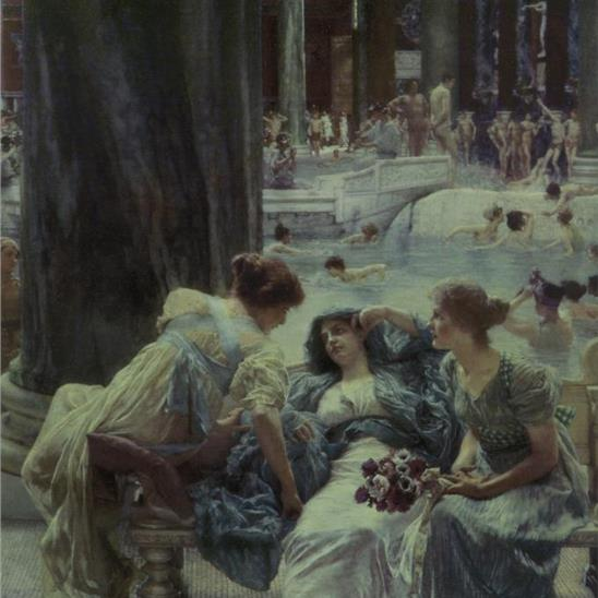 Alma-Tadema: The Baths Of Caracalla Masterpiece Tile