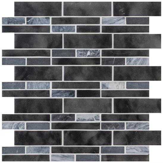 Fawkes Dark Grey Linear Mosaic