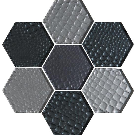 Futura Zirconia Hexagon Mosaic Textured Hexagon Mosaic