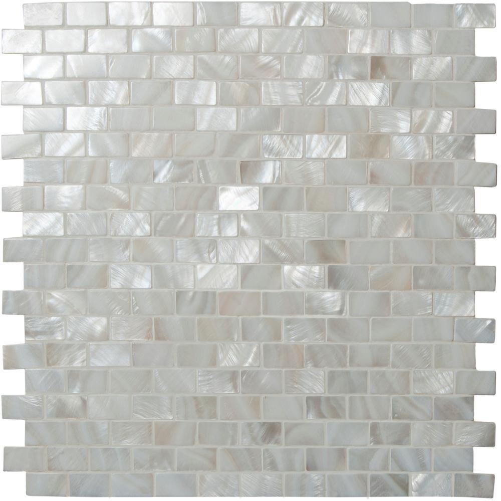 Pearl brickbond shell mosaic tile ppazfo