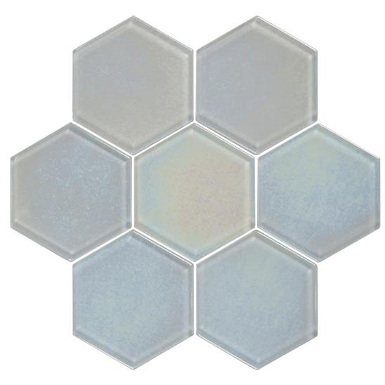 Futura Dichroic Hexagon Mosaic Textured Hexagon Mosaic