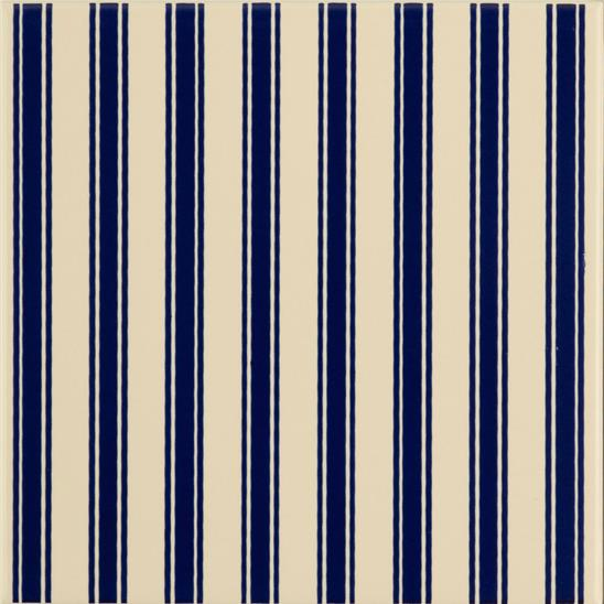 Regency Stripe Royal Blue On Colonial White