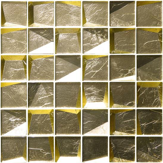 Gold Leaf Facet Mosaic Facet Mosaic