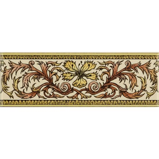 Autumn Foliage Classical Decorative Border on Colonial White