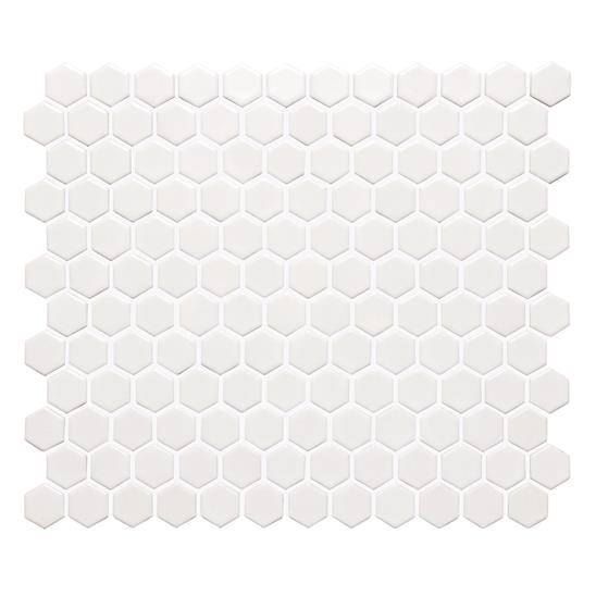 White Honeycomb Floor Mosaic