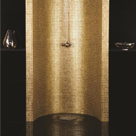Bullion Gold Rush Glass Mosaic