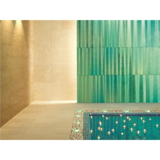 Aurora Borealis Aqua Frosted Decorative Frosted Glass