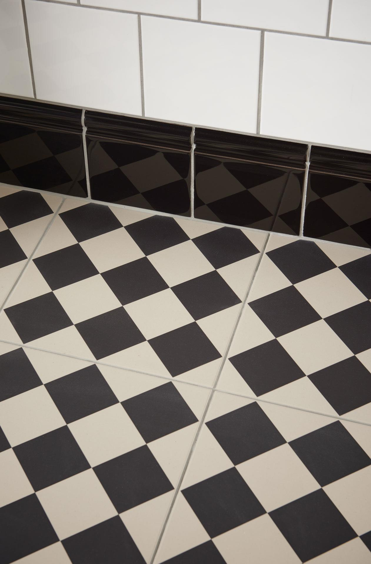 Harlequin Large Black Ceramic Tile