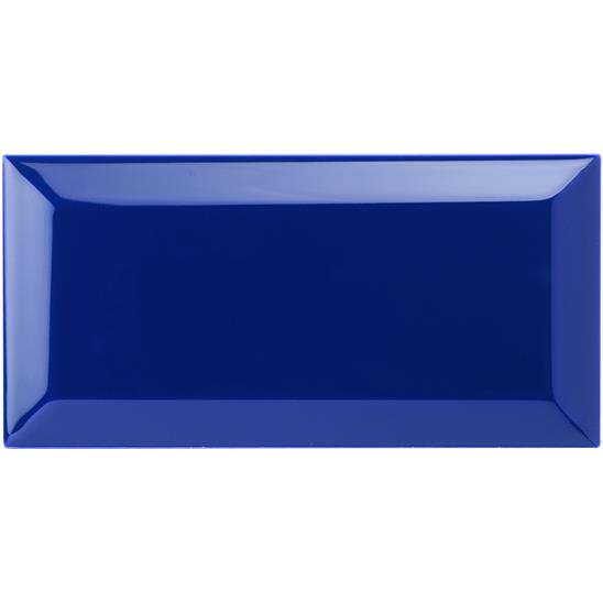 Royal Blue Metro Bevelled Tile
