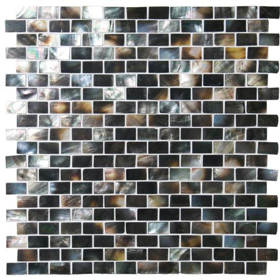 Mother of Pearl (Light) Brickbond Shell Mosaic