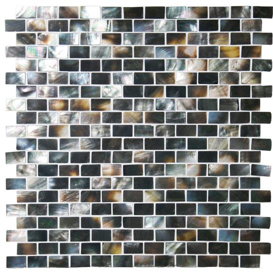 Mother of Pearl (Dark) Brickbond Shell Mosaic