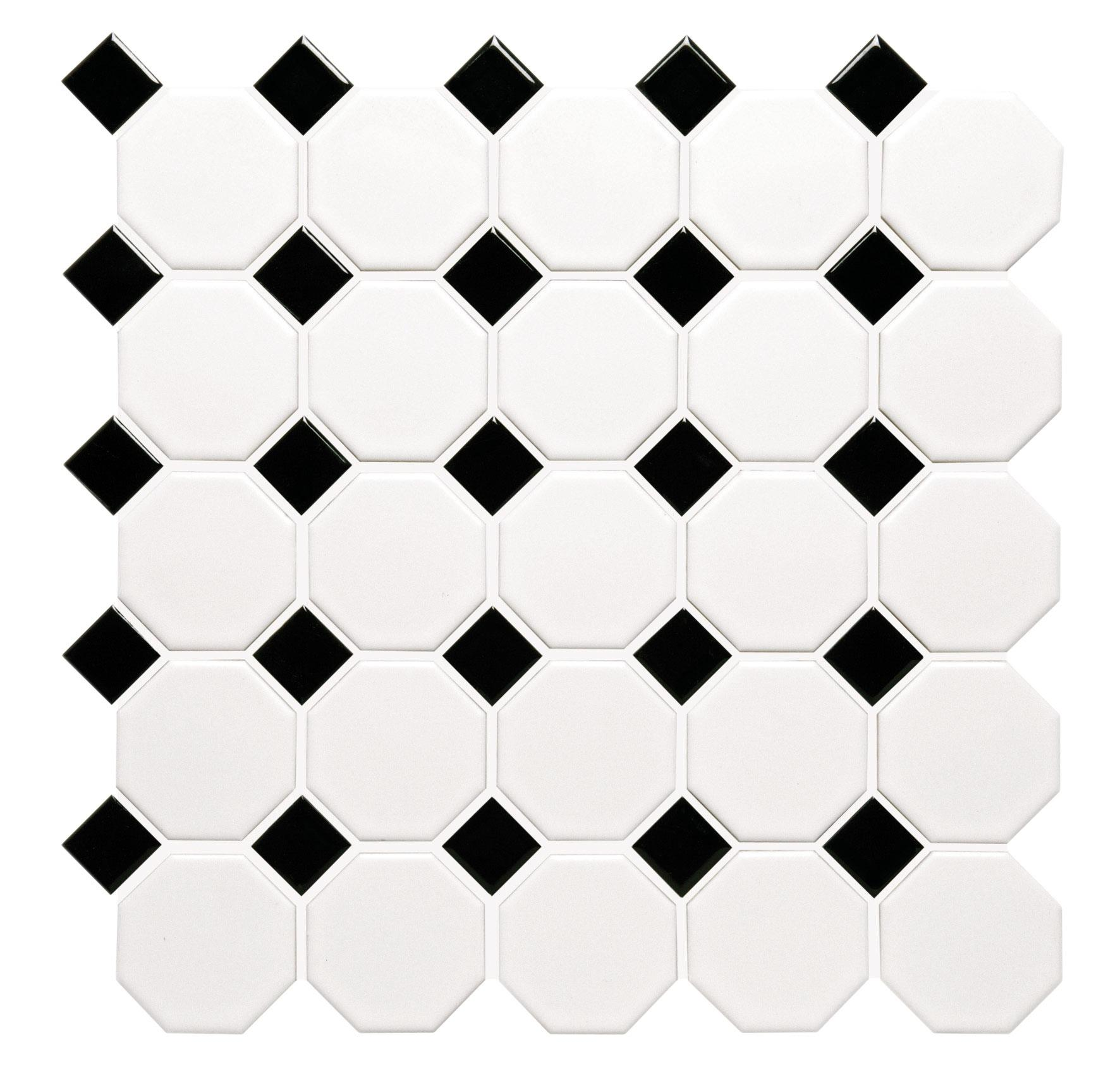 Classic octagon and dot mosaic tile dailygadgetfo Gallery