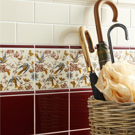Burgundy Field Tile