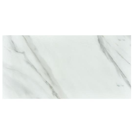 Bianco Carrara (polished) Rectified glazed porcelain