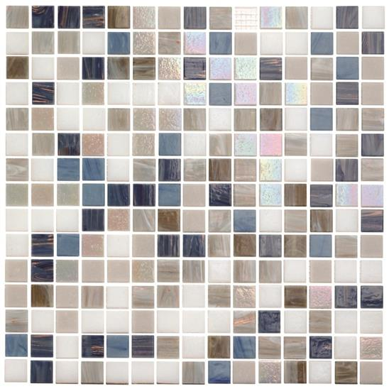 Kinabalu Mixed Blends Glass Mosaic 20mm 13/16""