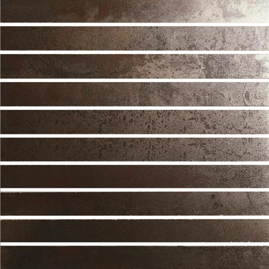 Metallic Copper Linear Mosaic Recitifed Glazed Metallic-finish Porcelain