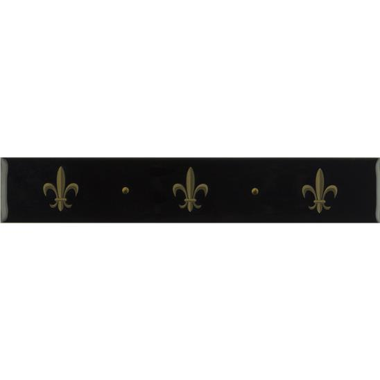 Fleur de Lis Border Gold on Jet Black