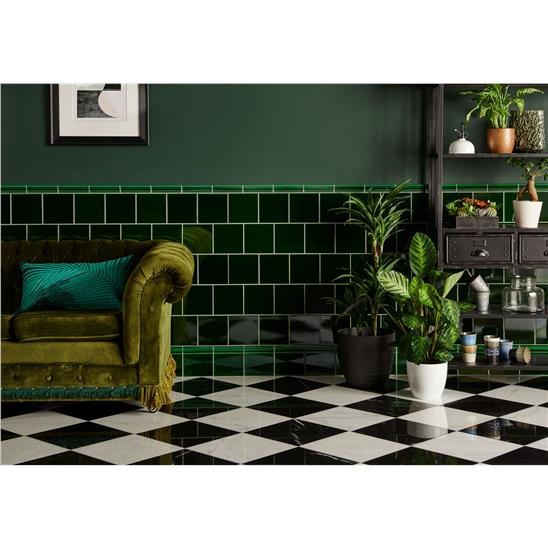 Victorian Green Field Tile